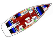 Beneteau Cyclades 50 - layout