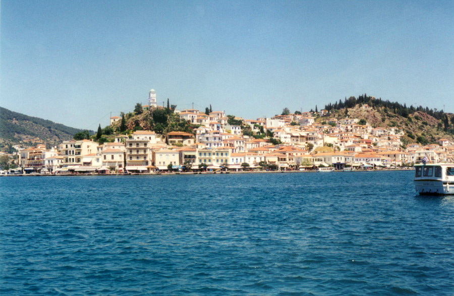 Poros, view from sea